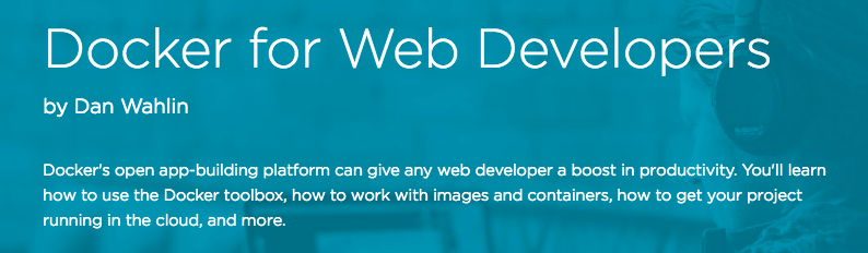 dockerForWebDevs
